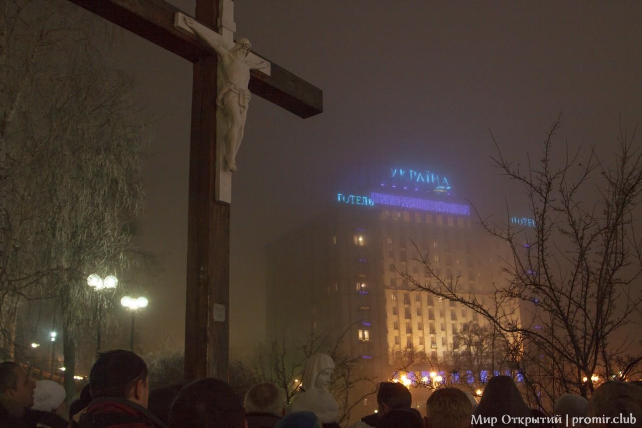 Вид на отель Украина, Киев