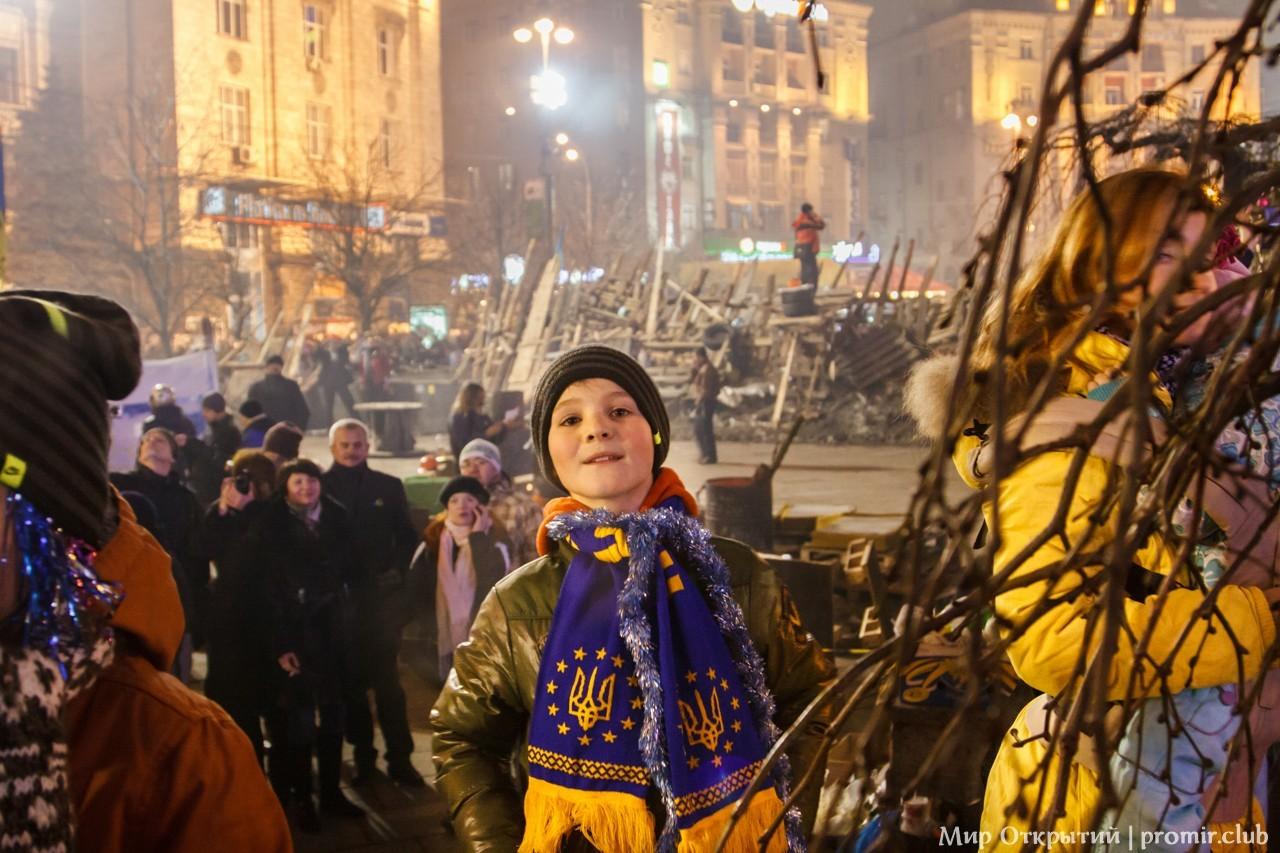 Новогодняя ночь на Майдане Незалежности, Киев