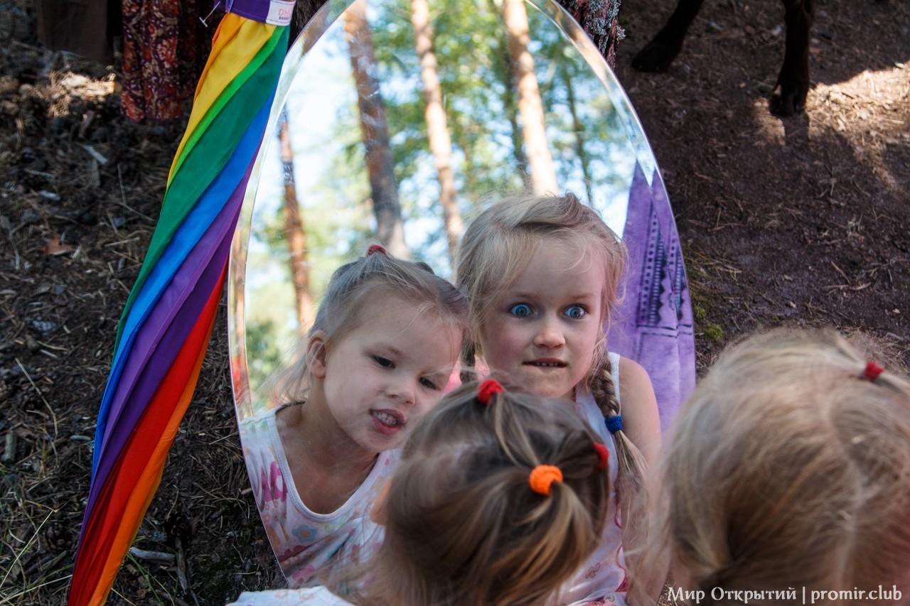 Дети на фестивале «YogArt», Ленинградская область