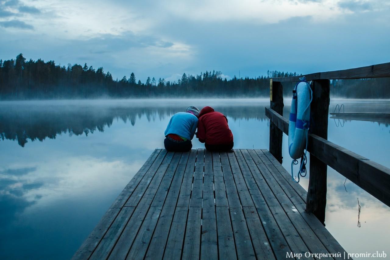 Озеро в Южной Карелии, Финляндия