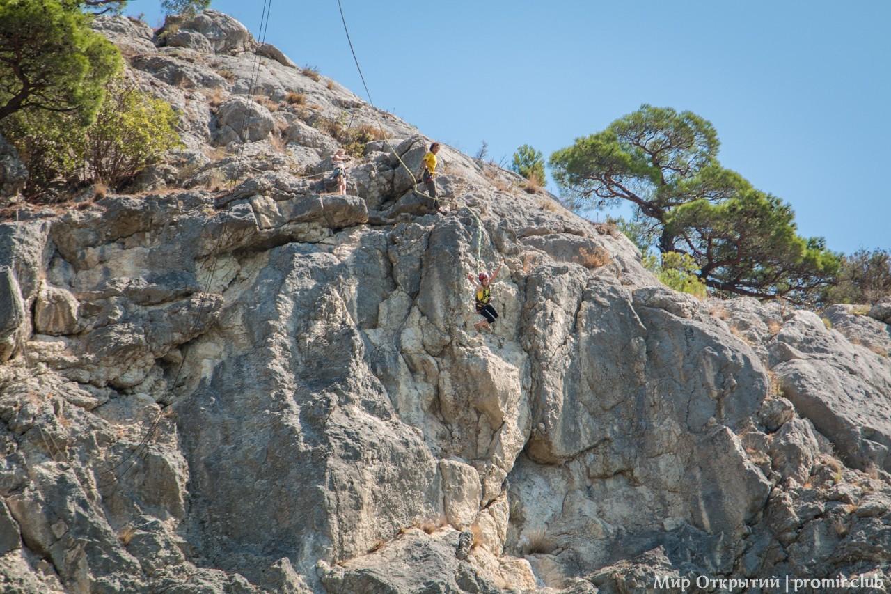 Прыжок со скалы, Крым, Мыс Айя