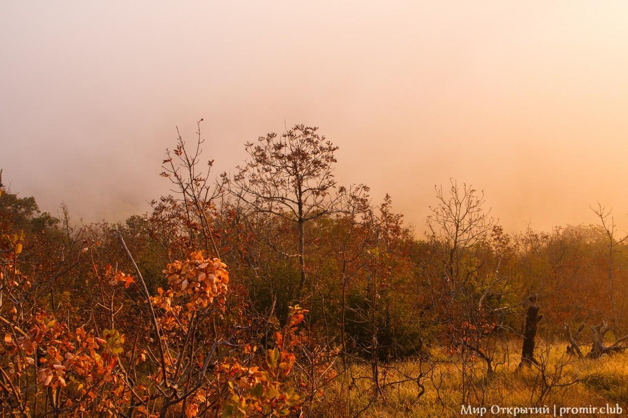 Восход солнца на горе Нексис, Краснодарский край