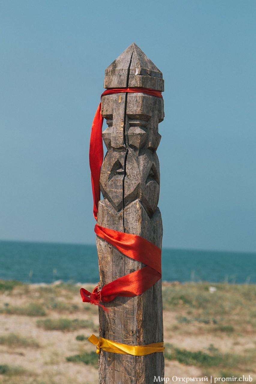 Деревянный идол, берег Черного моря, Саки