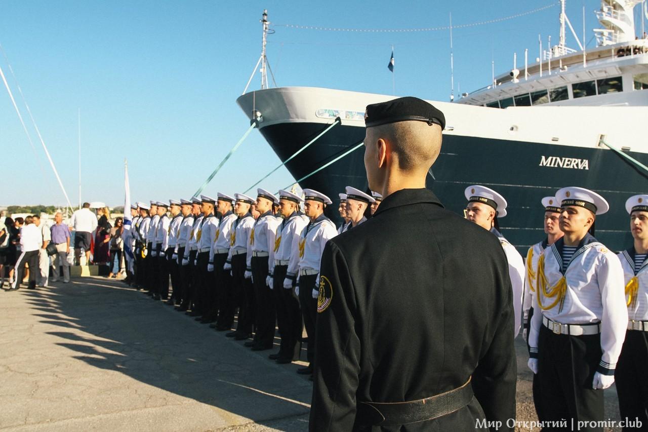 Торжественные проводы парусной яхты «Scorpius», Севастополь