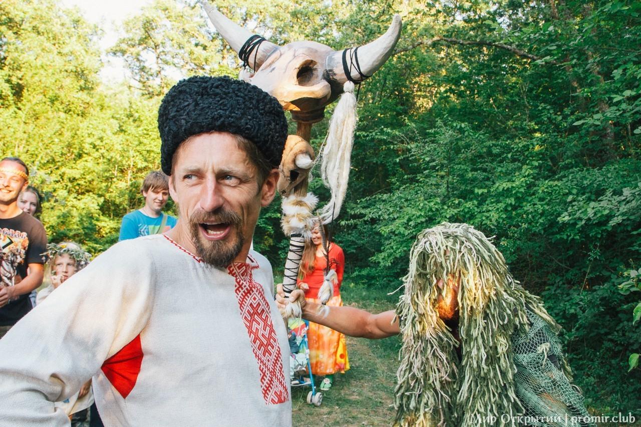 Мистерия на празднике «Купальские огни», Байдарская долина