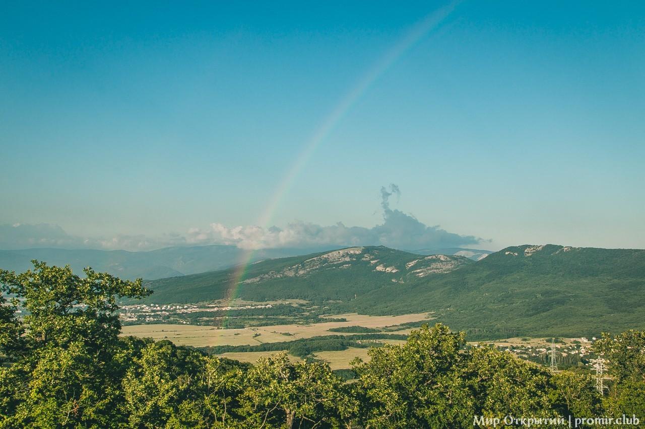 Панорама с радугой, Байдарская долина