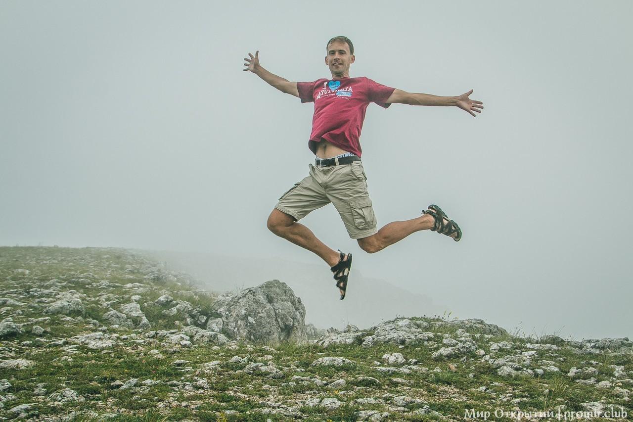 На вершине горы, перевал Чёртова лестница