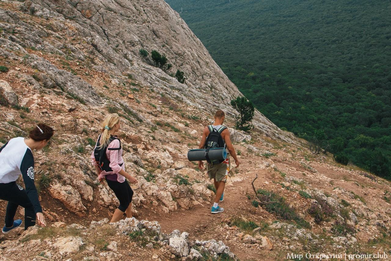 Ветреный спуск, гора Ильяс-Кая
