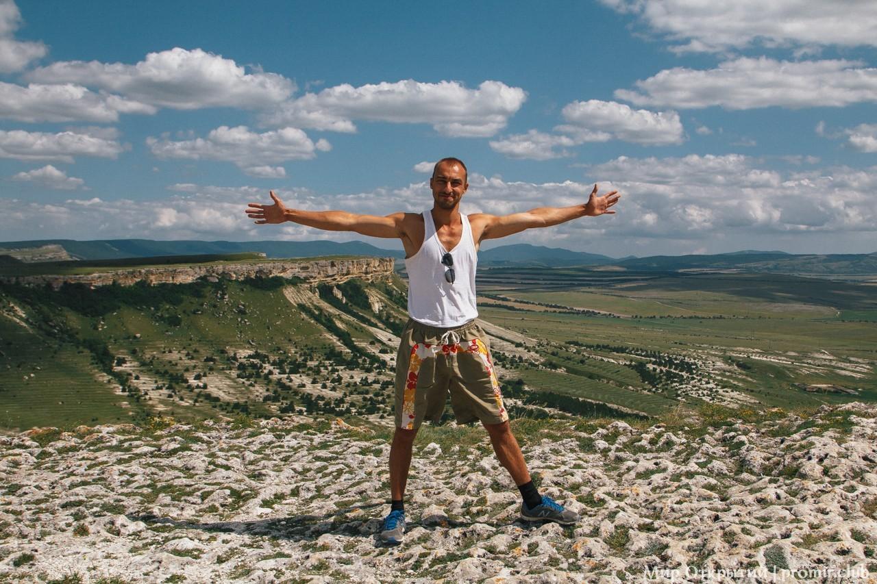 На вершине Белой скалы