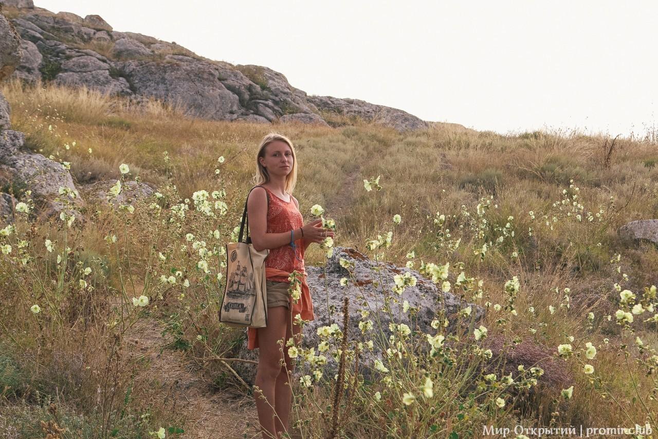 Мыс Казантип, берег Азовского моря