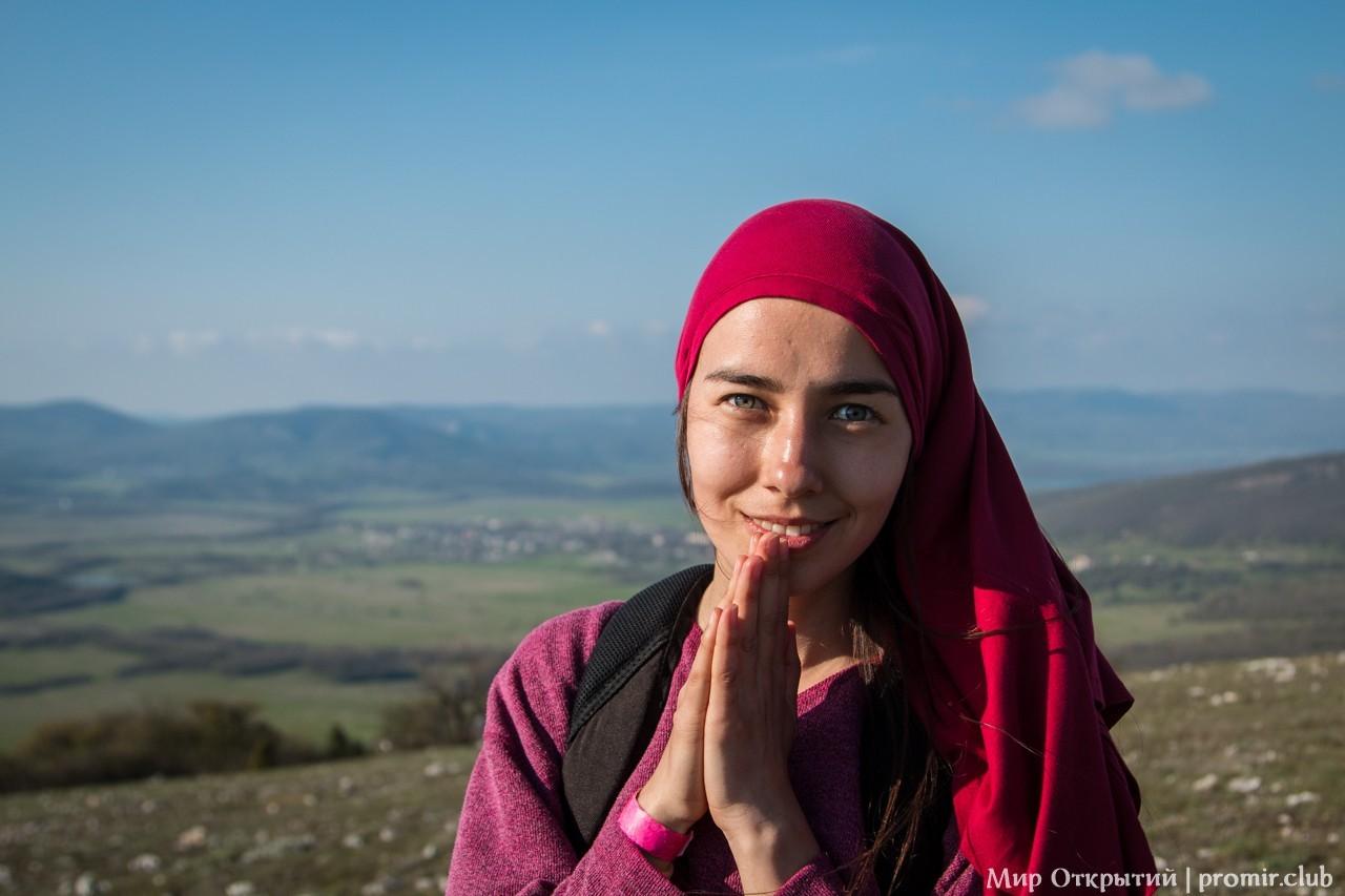 Участница фестиваля, Байдарская долина, Крым