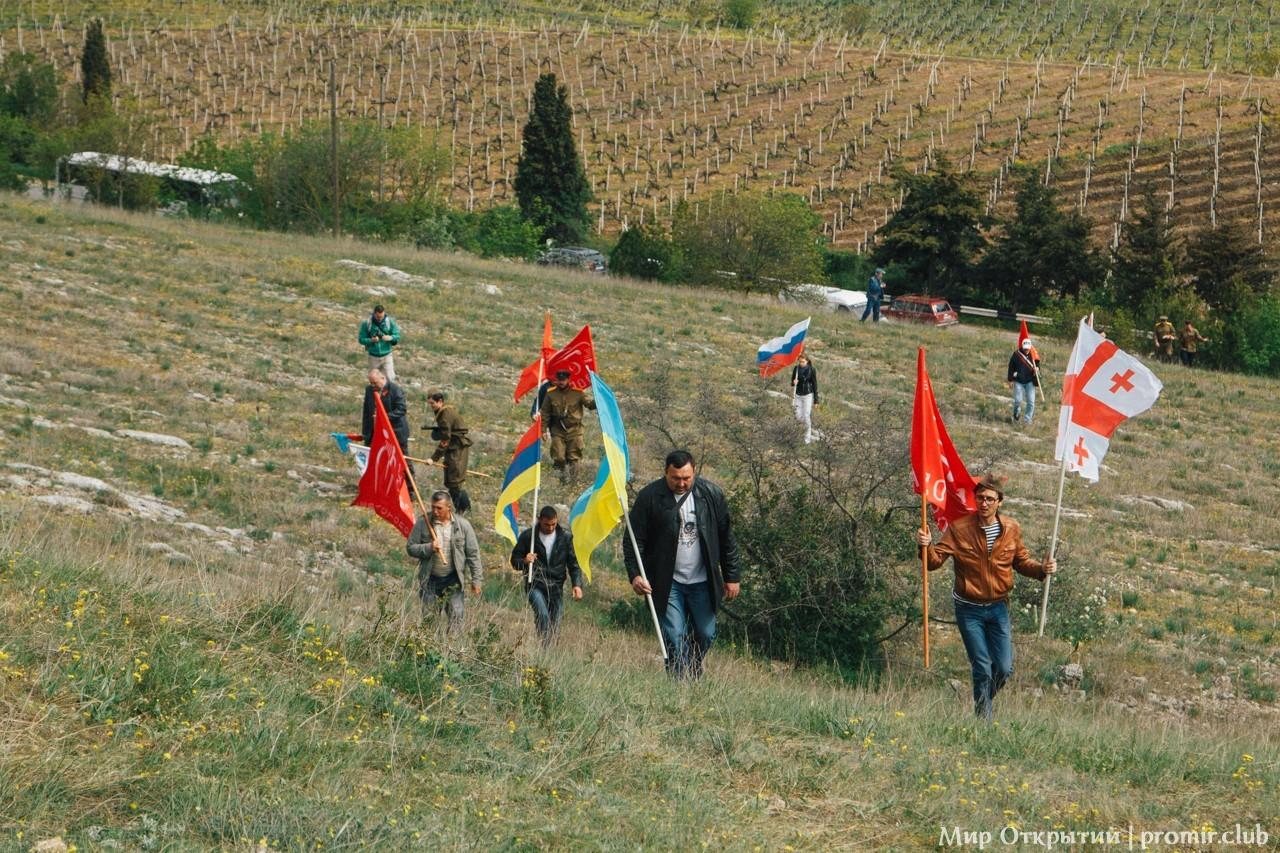 Встреча ветеранов на высоте Горная, Севастополь