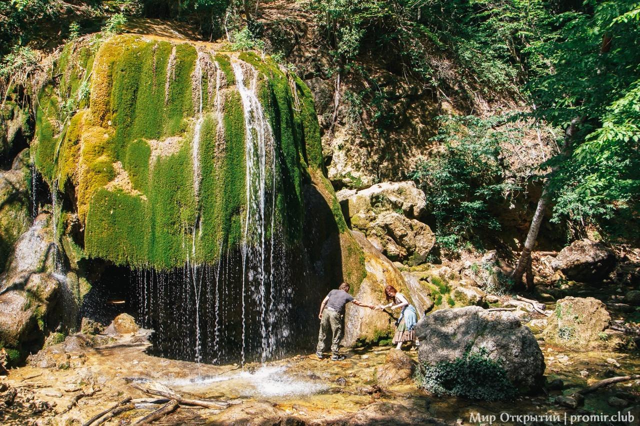 Водопад Серебряные струи, горный Крым