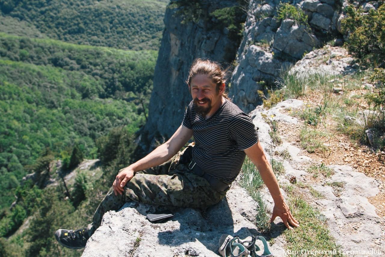 Наш проводник Яромир, Большой каньон Крыма