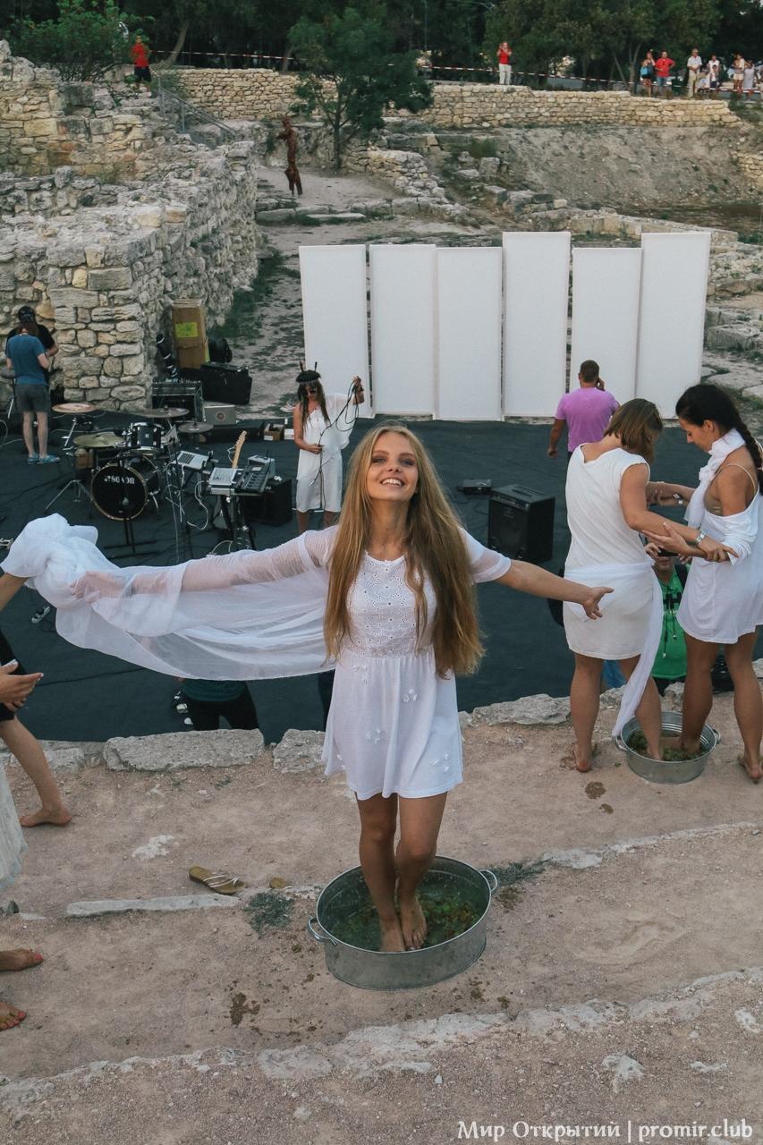 Театрализованное представление в Херсонесе, Севастополь