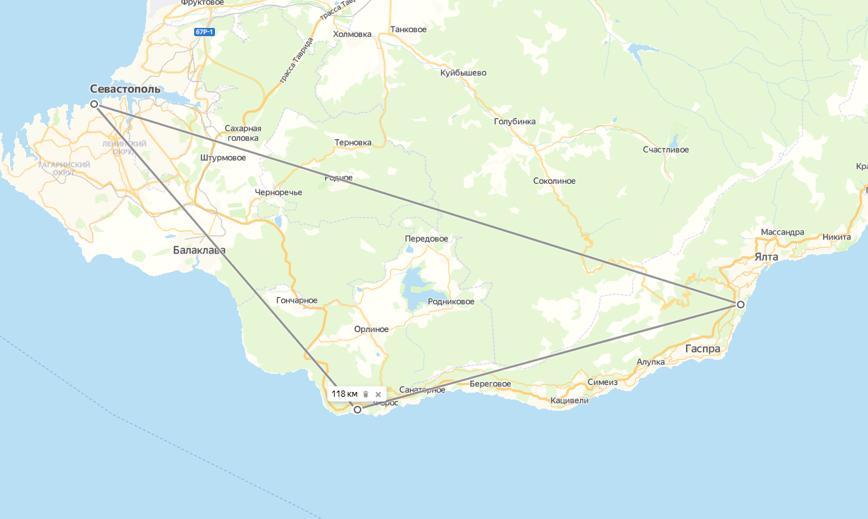 Треугольник знаковых мест Крыма